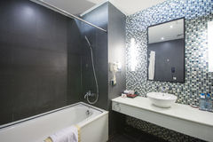 Halong CIty, Vietnam mar 12:: modern bathroom in hotel at Halong Stock Image