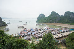Halong CIty, Vietnam mar 13:: pier at Halong bay on March 13, 20 Royalty Free Stock Photography