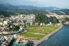 Halong miasto zdjęcie royalty free