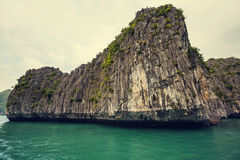 Halong. Rocks of Halong Bay, Vietnam royalty free stock photo
