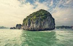 Halong. Rocks of Halong Bay, Vietnam stock photography