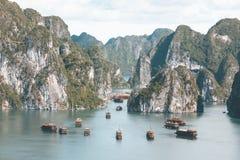 Halong Schacht in Vietnam Stockfotografie