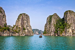 Halong Schacht in Vietnam Stockbild