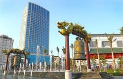 Halong Trzymać na dystans miasto z wysokiego budynku tłem, Wietnam, Azja Obraz Royalty Free