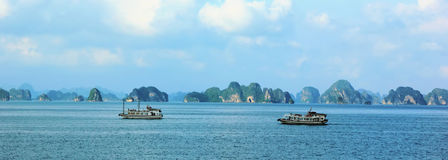 halong Vietnam de compartiment Photos libres de droits