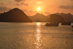 halong Vietnam de compartiment Images stock
