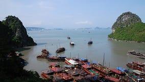 Halong zatoki sceneria Fotografia Stock