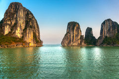 Halongbaai, Vietnam. stock afbeelding