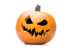 Halooween pumpkin's grin. Halloween pumpkin's grin on white isolated background Stock Photo