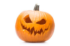 Halooween pumpkin's grin. Halloween pumpkin's grin on white isolated background Royalty Free Stock Photography