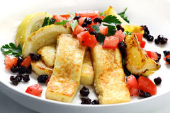 Haloumi Salad Stock Photography