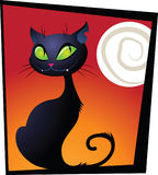 Haloween black cat Royalty Free Stock Photo