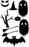 Haloween black silhouettes Royalty Free Stock Photos