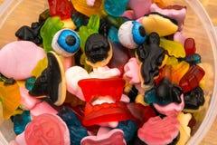 Haloween candy monster eyeballs Stock Images