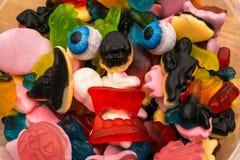 Haloween candy monster eyeballs Stock Photos