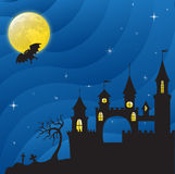 Haloween Castle Royalty Free Stock Photos