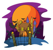 Haloween Castle. Ilustrator design .eps 10 Royalty Free Stock Photo