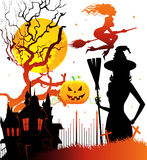 Haloween dark back Royalty Free Stock Photos