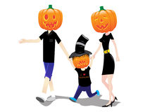 Haloween family costumes. Kids playing wearing costumes for haloween Royalty Free Stock Images