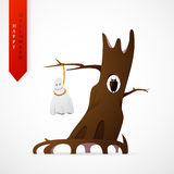 Haloween greeting card cartoon design Royalty Free Stock Photos