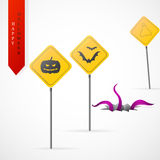 Haloween greeting card cartoon design Stock Photography