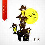 Haloween greeting card cartoon design Royalty Free Stock Images