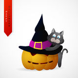 Haloween greeting card cartoon design Royalty Free Stock Photography