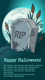 Haloween headstone Royalty Free Stock Images