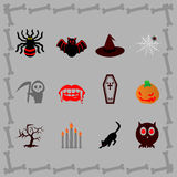Haloween icons Royalty Free Stock Photos