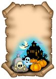 Haloween parchment 2 Stock Image
