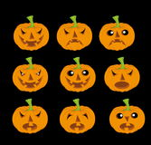 Haloween pumpkin. Vector illustration of the Haloween pumpkin Stock Images