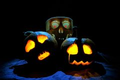 About Haloween Pumpkins Royalty Free Stock Photo