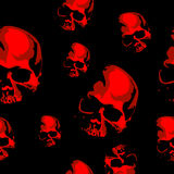 Haloween scary seamless vector background with the skull. Haloween scary seamless vector background Stock Photography