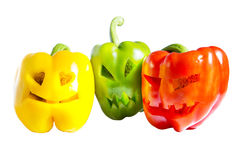 Haloween Sweet Pepper Royalty Free Stock Photo
