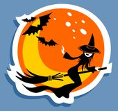 Haloween witch Royalty Free Stock Images