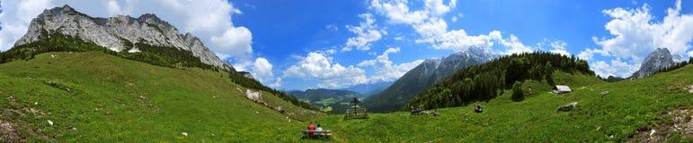 Hals-Alm/alpi bavaresi Fotografie Stock Libere da Diritti