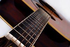 Hals der Akustikgitarre Stockfoto