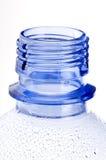 Hals van blauwe plastic fles Royalty-vrije Stock Foto's