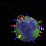 halsar för jordjordklotavstånd Arkivfoton
