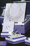 Halsband av ädelstenar och Moskva 2014 för smycken JUNWEX Royaltyfri Fotografi