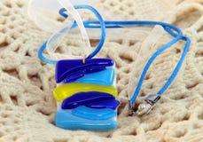 Halsband av glass blommor Royaltyfri Fotografi