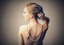 Halsband av pärlor Fotografering för Bildbyråer