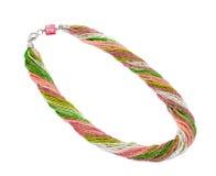 Halsband die van kleurrijke parels wordt gemaakt Royalty-vrije Stock Foto's