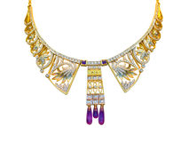 Halsband die in wit wordt geïsoleerda Royalty-vrije Stock Foto
