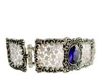 Halsband med den blåa stenen Royaltyfria Bilder