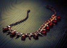 Halsband med rubiner Royaltyfri Foto