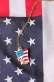 Halsband med statyn av frihet Arkivbild