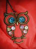 Halsband med ugglahängen royaltyfria foton
