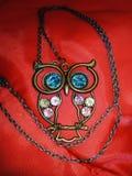 Halsband med ugglahängen arkivfoton