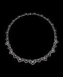 Halsband met diamanten royalty-vrije stock afbeelding